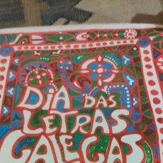 Carteles Feria: CARTEL DÍA DAS LETRAS GALEGAS 1976. VIRXILIO. Lote 241521935