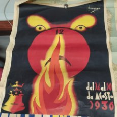 Affissi Fiera: CARTEL ORIGINAL FALLAS EN ALCOY 1936.. Lote 241628315
