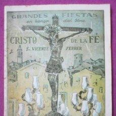 Affissi Fiera: LIBRO LIBRITO FERIA Y FIESTAS PATERNA VALENCIA 1949 CRISTO DE LA FE Y SAN VICENTE FERRER LV60. Lote 243584155