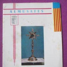 Affissi Fiera: LIBRO LIBRITO FERIA Y FIESTAS ALMUSAFES VALENCIA 1968 PROGRAMA OFICIAL LV63. Lote 243587550