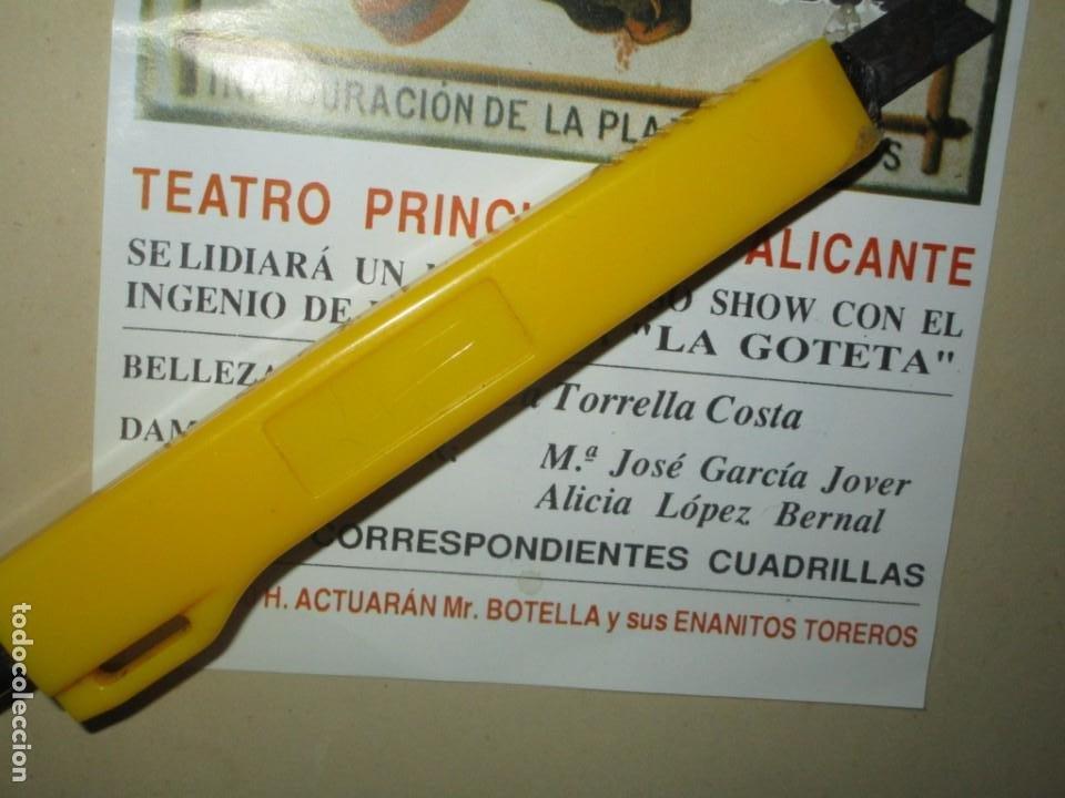 Carteles Feria: HOGUERA LA GOLETA ANTIGUO CARTEL ANUNCIADOR CAM 1994 ALICANTE INAUGURACION PLAZA TOROS ALICANTE - Foto 2 - 245755725