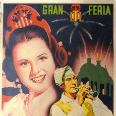 Affissi Fiera: VALENCIA - CARTEL GRAN FERIA DE JULIO, GRAN BATALLA DE FLORES - SIMEON DURA - LITOGRAFIA - AÑO 1947. Lote 247091005