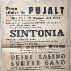 Carteles Feria: CARTEL FESTA MAJOR DE PUJALT (L'ANOIA) – 1984. Lote 247379250