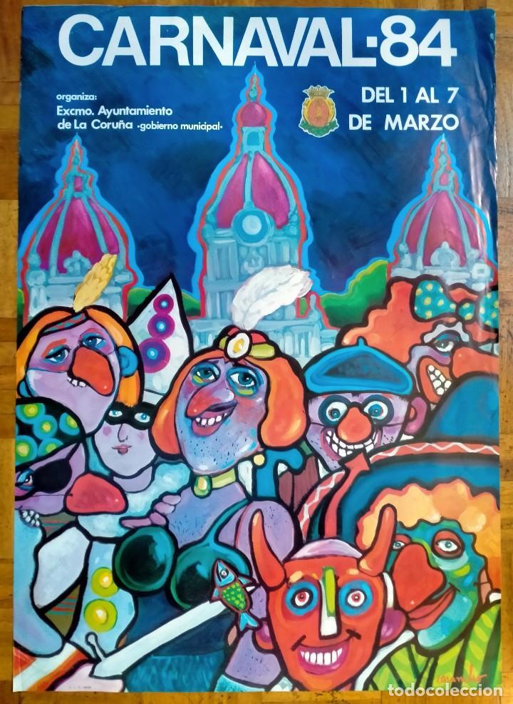 CARTEL / POSTER DE CARUNCHO ENTROIDO / CARNAVAL CORUÑA 1984 (Coleccionismo - Carteles Gran Formato - Carteles Ferias, Fiestas y Festejos)