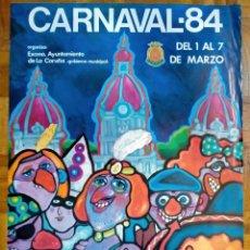 Carteles Feria: CARTEL / POSTER DE CARUNCHO ENTROIDO / CARNAVAL CORUÑA 1984. Lote 248154795