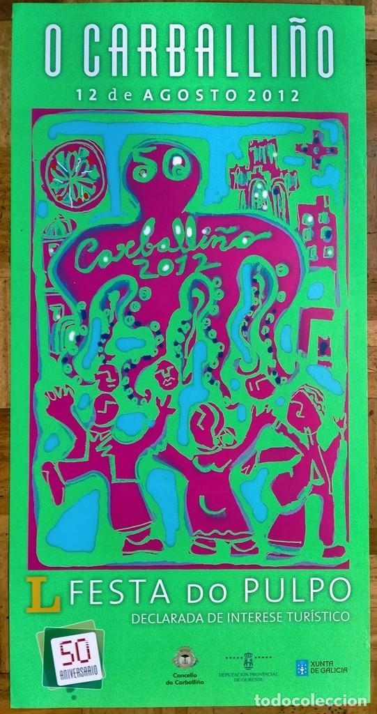 CARTEL / POSTER DE FELIPE SENÉN FIESTA / FESTA PULPO O CARBALLIÑO 2012 (Coleccionismo - Carteles Gran Formato - Carteles Ferias, Fiestas y Festejos)