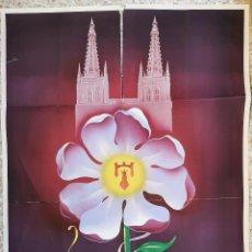 Carteles Feria: CARTEL FERIAS Y FIESTAS DE BURGOS 1950 DEL OLMO Y LUIS SAEZ LITOGRAFIA ORIGINAL. Lote 248515935