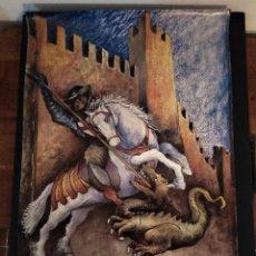 Affissi Fiera: CARTEL DE LA VII SETMANA MEDIEBAL DE LA LLEGENDA DE SANT JORDI. MONTBLANC 1994. Lote 249603670