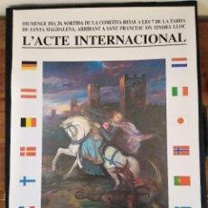 Affissi Fiera: CARTELL DE LA X SETMANA MEDIEBAL DE LA LLEGENDA DE SANT JORDI MONTBLANC 1997. Lote 249603735