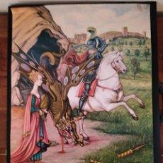 Affissi Fiera: CARTELL DE LA VIII SETMANA MEDIEBAL DE LA LLEGENDA DE SANT JORDI MONTBLANC 1995. Lote 249603775