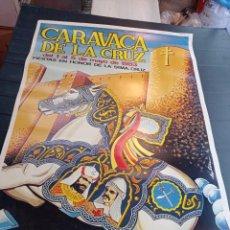 Carteles Feria: ANTIGUO CARTEL DE LAS FIESTAS DE SANTA CRUZ CARAVACA DE LA CRUZ 1983. Lote 250243495