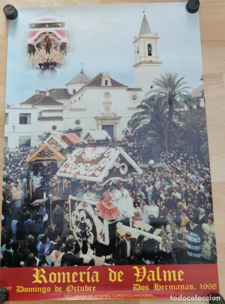 DOS HERMANAS, 1998, CARTEL ROMERIA DE VALME, 48X68 CMS (Coleccionismo - Carteles Gran Formato - Carteles Ferias, Fiestas y Festejos)