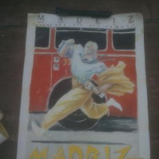 Affiches Foire: CARTEL POSTER ORIGINAL DE JAVIER DE JUAN MADRIZ VAMONOS QUE NOS VAMOS MOVIDA MADRILEÑA 1985. Lote 254711440
