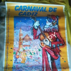 Carteles Feria: CARTEL CARNAVALES CÁDIZ AÑO 2000 100CM×70CM. Lote 257746675