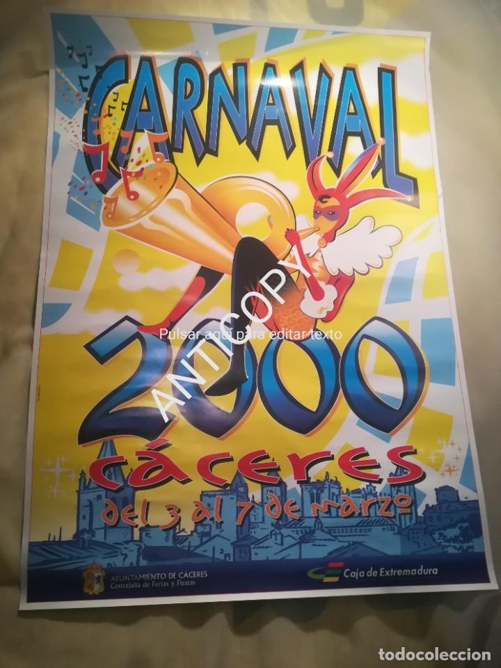 CARTEL CARNAVALES CÁCERES AÑO 2000 (Coleccionismo - Carteles Gran Formato - Carteles Ferias, Fiestas y Festejos)