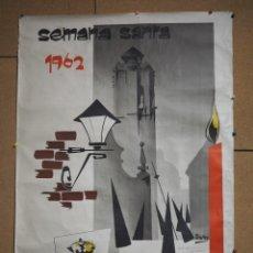 Carteles Feria: CARTEL ORIGINAL SEMANA SANTA ORIHUELA 1962 CON DEDICATORIA Y FIRMA DEL ILUSTRADOR ALFONSO. Lote 259897480