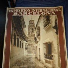 Carteles Feria: (M) CARTEL EXPOSICIÓN INTERNACIONAL BARCELONA 1929 PUEBLO ESPAÑOL, RIUSSET SA BARCELONA, 54X70CM. Lote 262249300