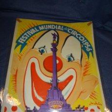 Carteles Feria: (M) CARTEL ORIGINAL - FESTIVAL MUNDIAL DEL CIRCO 1956, BARCELONA, IMP. VELASCO, 35X49CM,. Lote 262251530
