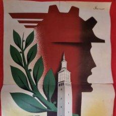 Cartazes Feira: CARTEL ZARAGOZA FERIA DE MUESTRAS 1957 ORIGINAL. Lote 265698079
