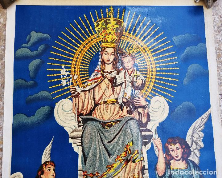 Carteles Feria: CARTEL CORONACION NTRA SRA DE LAS INJURIAS 1954 CALLOSA DE ENSARRIA ALICANTE LITOGRAFIA ORIGINAL - Foto 2 - 265702479