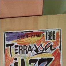 Carteles Feria: CARTEL CINQUÈ FESTIVAL DE JAZZ DE TERRASSA AÑO 1986, 68 X 48 CM. Lote 266328098