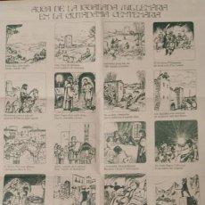 Carteles Feria: 1979 AUCA DE LA IGUALADA MIL.LENÀRIA EN LA CIUTADANIA CENTENÀRIA 490 X 345 MM. APROX.. Lote 267549529