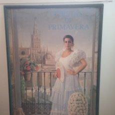 Carteles Feria: PRECIOSO CARTEL FIESTA DE PRIMAVERA SEVILLA 1.997 , ENMARCADO. Lote 268717014