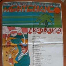 Carteles Feria: DANIEL TORRES - PRIMER FESTIVAL DE LA JUVENTUD DEL MEDITERRÁNEO - AÑO 1982 - PERFECTO ESTADO. Lote 275605023