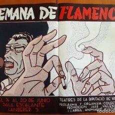 Carteles Feria: DANIEL TORRES - SEMANA DE FLAMENCO - PERFECTO ESTADO. Lote 275702503