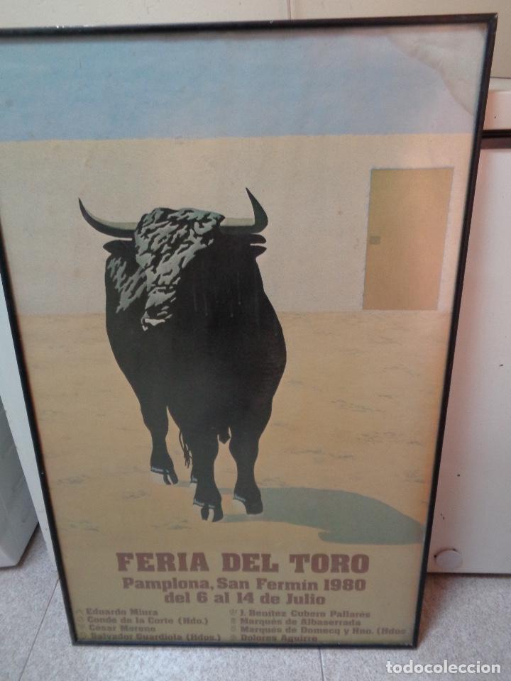RARO CARTEL GRAN FORMATO SAN FERMIN 1980, GANADERÍAS (Coleccionismo - Carteles Gran Formato - Carteles Ferias, Fiestas y Festejos)
