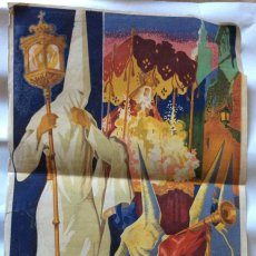 Carteles Feria: SEVILLA. SEMANA SANTA 1952. CARTEL 33 X 48,5 ORIGINAL RUIZ VELA LITOGRAFÍA VENTURA HITA GRANADA. Lote 276286368