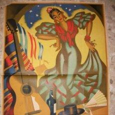 Carteles Feria: 1952 CARTEL DE JEREZ DE LA FRONTERA CADIZ FIESTAS DE PRIMAVERA POR CARLOS GALLEGOS FLAMENCO POSTER. Lote 276548473