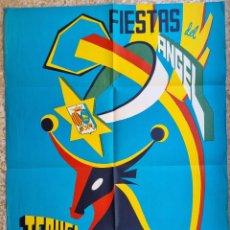 Carteles Feria: CARTEL TERUEL 1968 FERIAS Y FIESTAS DEL ANGEL LITOGRAFIA CAÑAVATE ORIGINAL. Lote 276657303
