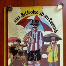 Carteles Feria: POSTER 1981 CARNAVALES DE BILBAO. BILBOKO IHAUTERIAK. Lote 276738808