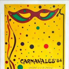 Carteles Feria: CARTEL GRAN FORMATO 95X60 CM. #CARNAVALES MADRID 1984. Lote 277203528