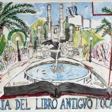 Carteles Feria: CORREA CORREDOIRA, XAVIER (A CORUÑA, 1952). CARTEL FERIA DEL LIBRO ANTIGUO I OCASIÓN 1989.. Lote 283267938