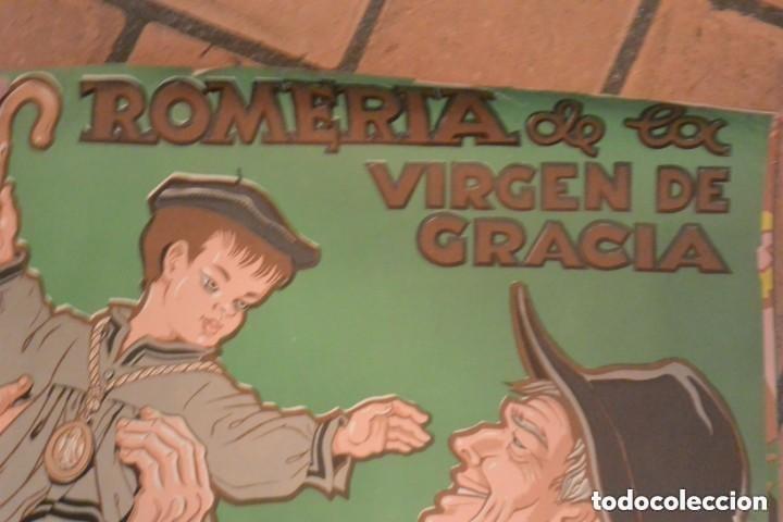 Carteles Feria: CARTEL ROMERIA DE VIRGEN GRACIA, SAN LORENZO ESCORIAL 1965 , AUTOR ANTONIO COBOS - Foto 3 - 286203548
