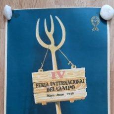 Carteles Feria: CARTEL PUBLICITARIO DE LA FERIA INTERNACIONAL DEL CAMPO MADRID MAYO-JUNIO 1959. Lote 286646513