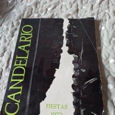 Carteles Feria: PROGRAMA DE FIESTAS CANDELARIO AÑO 1972. Lote 286678168