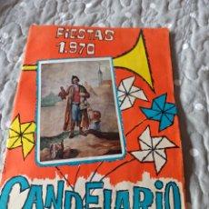Carteles Feria: PROGRAMA FIESTAS CANDELARIO 1970. Lote 286678938