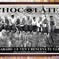 Carteles Feria: BONITO CARTEL DE DICOTECA - CHOCOLATE - 1995 .TAMAÑO 70 X 50 CM. Lote 287964763
