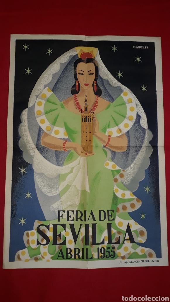 FERIA DE SEVILLA ABRIL 1955 (Coleccionismo - Carteles Gran Formato - Carteles Ferias, Fiestas y Festejos)