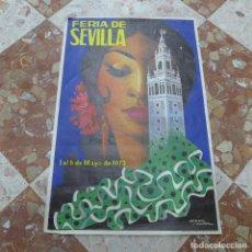 Carteles Feria: CARTEL DE LA FERIA DE SEVILLA 1973. Lote 293949138