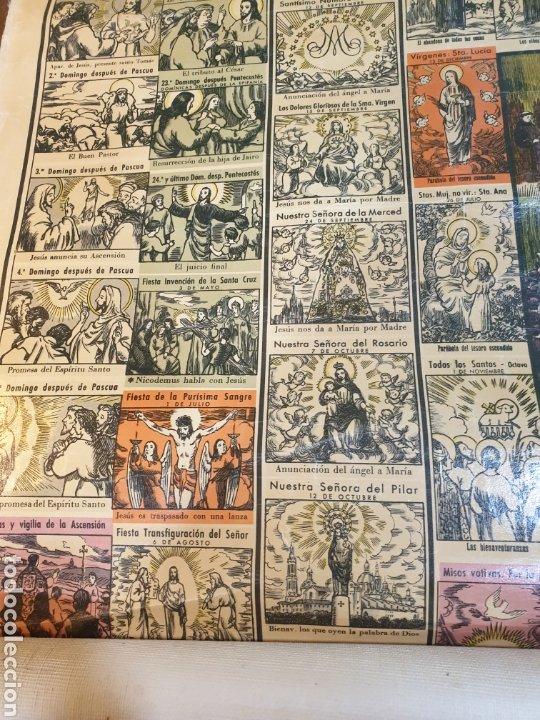 Carteles Feria: CARTEL GRÁFICO DE LOS EVANGELIOS Y FIESTAS DEL AÑO LITOGRAFÍA 1943 - Foto 3 - 51045905
