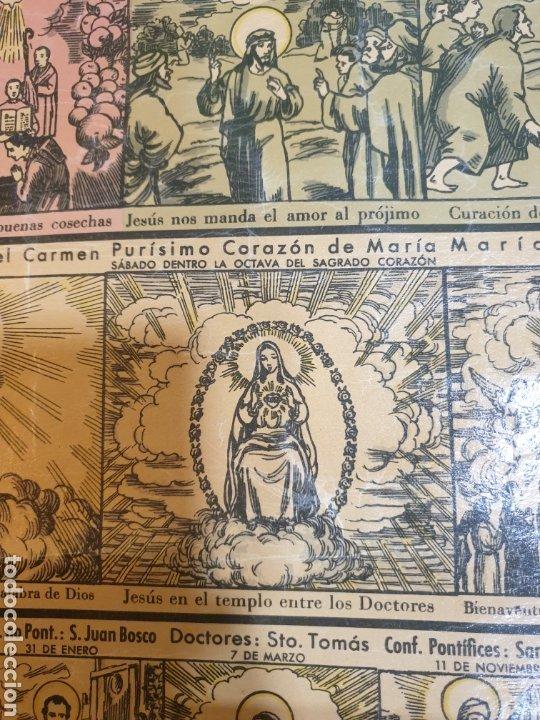 Carteles Feria: CARTEL GRÁFICO DE LOS EVANGELIOS Y FIESTAS DEL AÑO LITOGRAFÍA 1943 - Foto 4 - 51045905