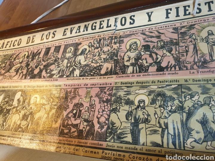 Carteles Feria: CARTEL GRÁFICO DE LOS EVANGELIOS Y FIESTAS DEL AÑO LITOGRAFÍA 1943 - Foto 5 - 51045905