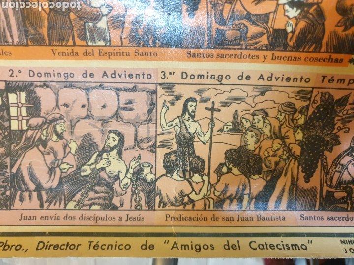 Carteles Feria: CARTEL GRÁFICO DE LOS EVANGELIOS Y FIESTAS DEL AÑO LITOGRAFÍA 1943 - Foto 11 - 51045905