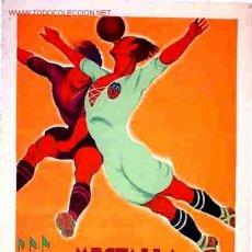 Coleccionismo deportivo: CARTEL FUTBOL MESTALLA VALENCIA - REAL MADRID 1931 , ORIGINAL ,RB. Lote 182348241