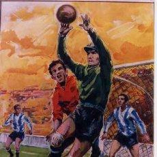 Coleccionismo deportivo: CARTEL FUTBOL FUTBOLISTAS Y PORTERO GRANDE 1963 ,ORIGINAL , RB. Lote 112733878