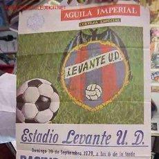 Coleccionismo deportivo: CARTEL FUTBOL LEVANTE U.D. - RACING SANTANDER - AÑO 1979. Lote 21239995